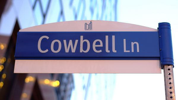 cowbell lane sign