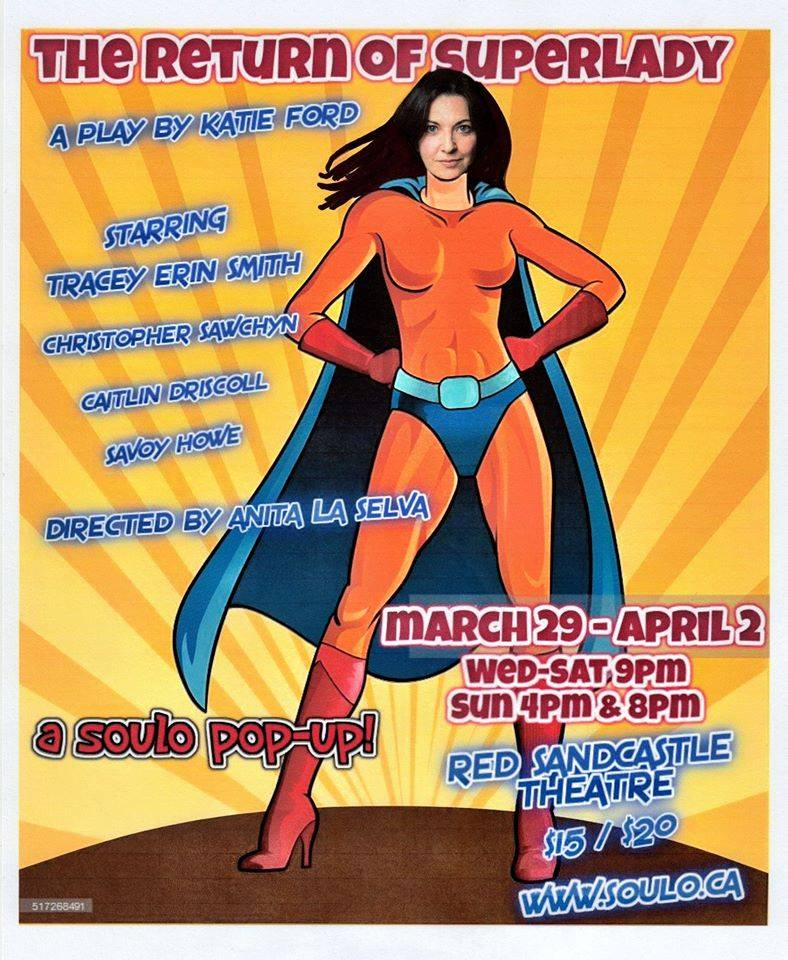 Coming soon: SOULO Theatre pop-up show The Return of Superlady!