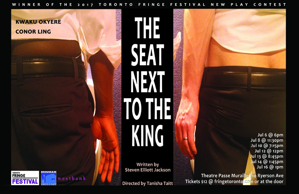 Toronto Fringe: Two men reach out for each other in times of division & change in the intimate, tender, layered The Seat Next to the King