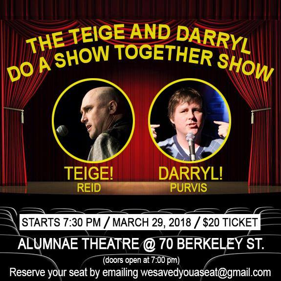 Teige Reid & Darryl Purvis take us to the Church of the Perpetual LOLs in the Teige & Darryl Do A Show Together Show